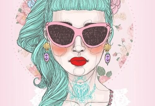 γυναίκα με μπλε μαλλιά κριτική για τους άλλους