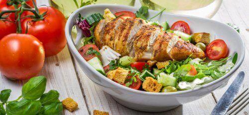 αναλογίες τροφών Ψάρι με λαχανικά