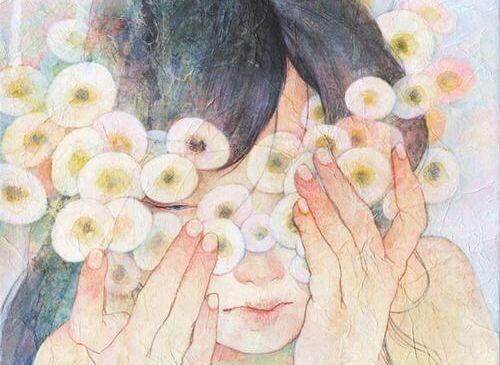 συναισθηματικό κενό λευκά λουλούδια