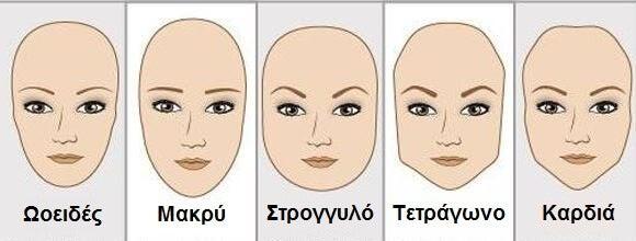 Σχήματα προσώπων και τα φρύδια σας με βάση το σχήμα του προσώπου σας
