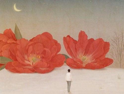 συναισθηματικό κενό και λουλούδια