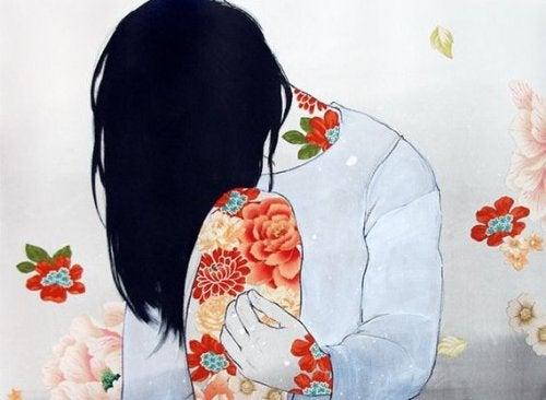 Γυναίκα περιβαλλόμενη από λουλούδια οι άλλοι χάνουν εσάς
