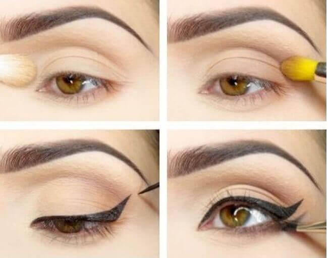 Μακιγιάζ των ματιών - Μάτια με διπλή γραμμή