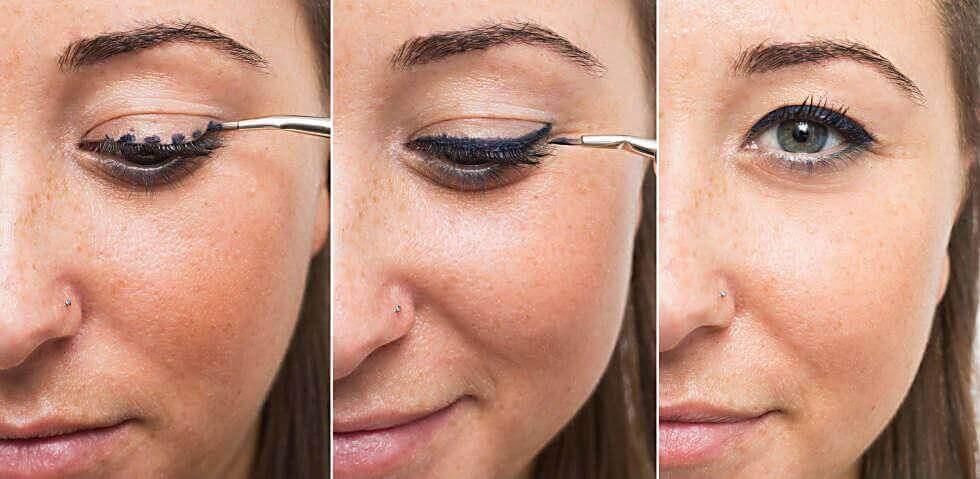 Εφαρμογή eyeliner, τελείες καθοδήγησης