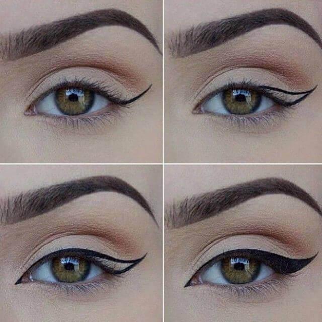 Εφαρμογή eyeliner, το μάτι της γάτας