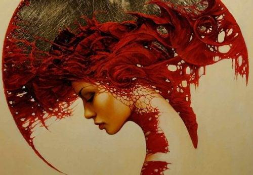 γυναίκα σε πίνακα, πως να απελευθερώσετε το μυαλό σας