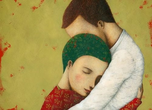 ζευγάρι που αγκαλιαζεται