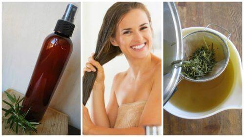 Ενδυναμώστε τα μαλλιά σας με αυτό το σπιτικό conditioner από βότανα