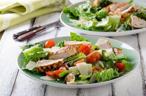 σαλάτα, ντοματίνια, πράσινη σαλάτα- του συνδρόμου ευερέθιστου εντέρου