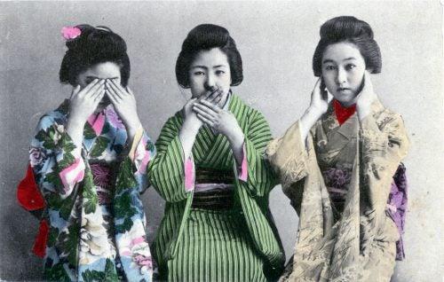 Τρεις σοφές μαϊμούδες - Τρεις Ιαπωνέζες