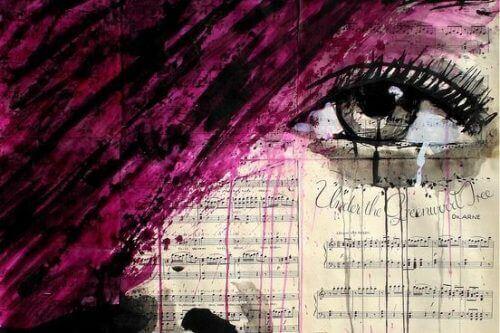 αγάπη και την εμμονή γυναίκα σε ζωγραφιά που κλαίει