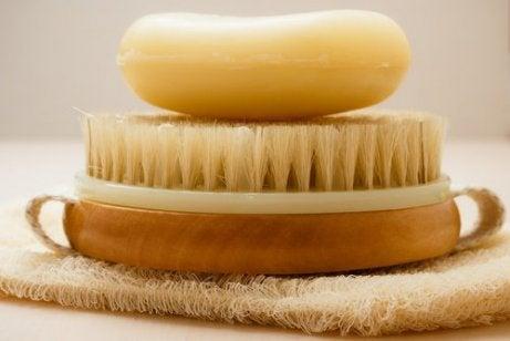 Στεγνό βούρτσισμα - Βούρτσα και σαπούνι