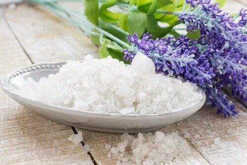 Κακοσμία στη ντουλάπα - Θαλασσινό αλάτι σε πιάτο