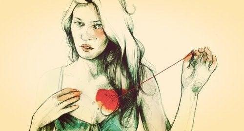 είστε μόνοι η γυναίκα με ραγισμένη καρδιά