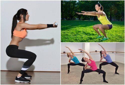 6 είδη καθισμάτων για να τονώσετε τα πόδια σας με άσκηση στο σπίτι