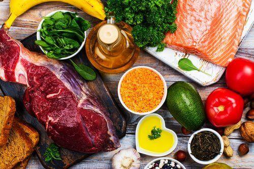 διάφορες τροφές, λαχανικά υψηλής πρωτεϊνικής αξίας