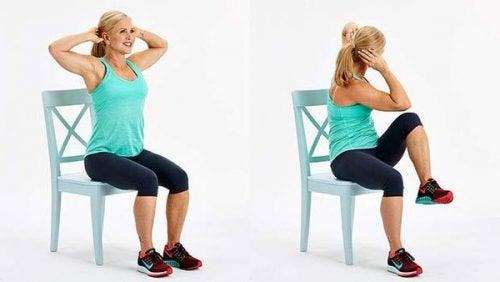 ασκήσεις με καρέκλα