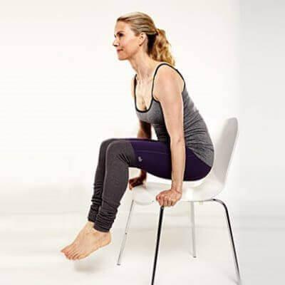 ανύψωση στην καρέκλα για να μειώσετε το κοιλιακό λίπος