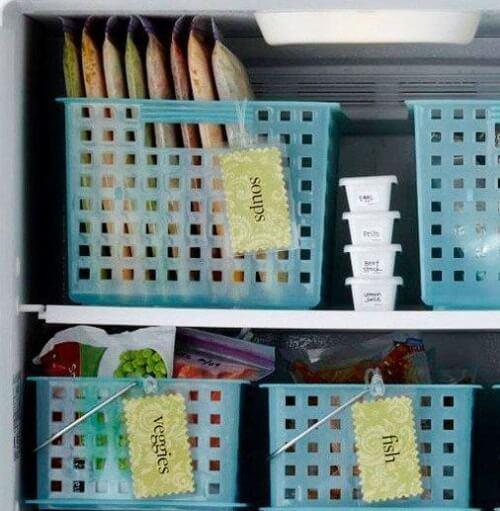 Οργάνωση του σπιτιού, καλάθια στην κατάψυξη