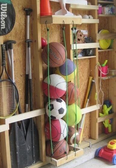 στην Οργάνωση του σπιτιού, τακτοποίηση αθλητικού εξοπλισμού