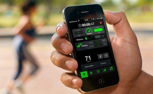 κινητό που μετράει τα βήματα