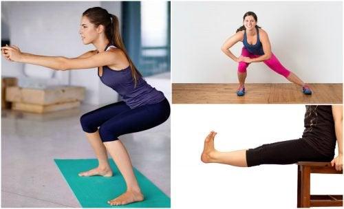 5 ασκήσεις εκγύμνασης των ποδιών για το σπίτι