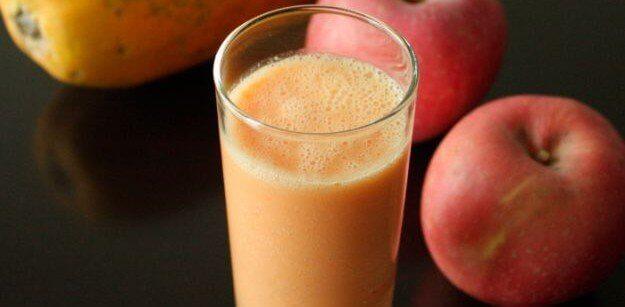 παπάγια, μήλα- αποτοξινωτικά ροφήματα