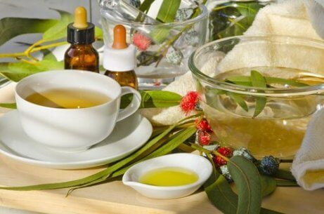 εγχύματα και πράσινο τσάι