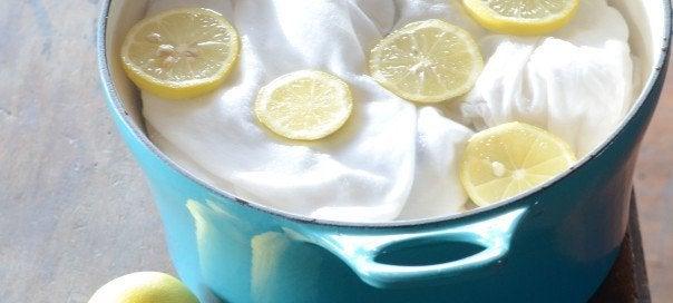 Εκπληκτικές χρήσεις του λεμονιού - Λεμόνια σε κατσαρόλα με ρούχα
