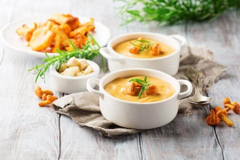 σούπα λαχανικών με κολοκύθα