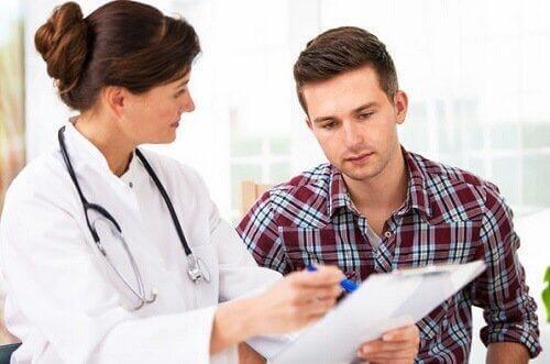 γιατρός και ασθενής Θεραπείες για τη διαβρεκίτιδα