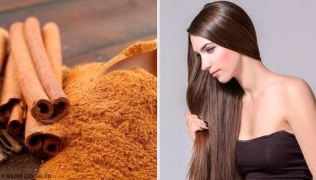 όμορφα και υγιή μαλλιά με κανελα