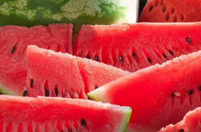 smoothies με φρούτα - καρπουζι
