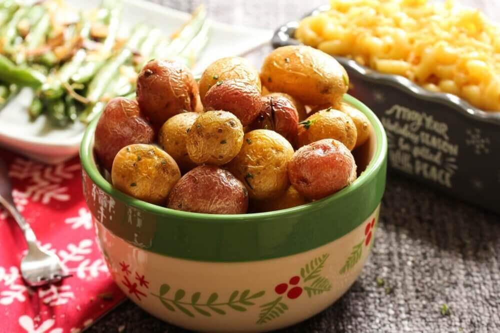 πατάτες ψητές σε μπολ
