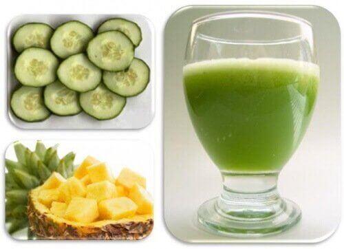 smoothies με φρούτα - αγγουρι