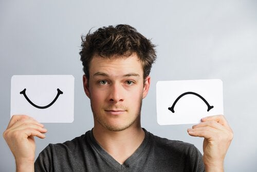 Πώς είναι να έχει κανείς διπολική διαταραχή - Άνδρας με γέλιο και λύπη