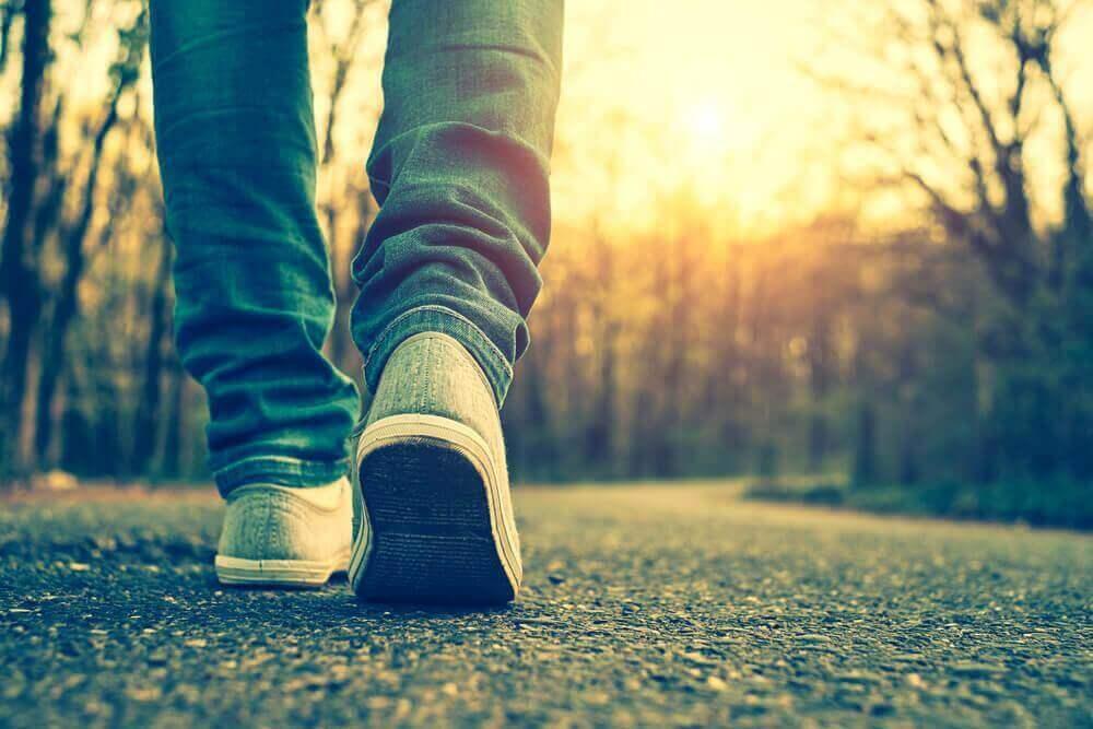 Ωφέλειες του καθημερινού περπατήματος - Άτομο που περπατά σε δάσος