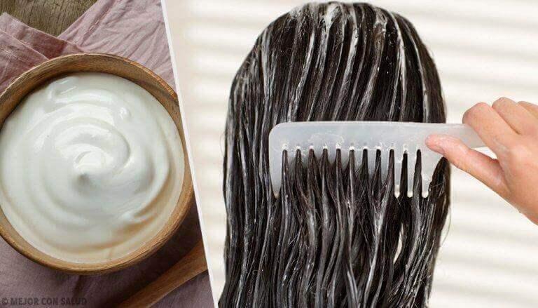 μείγμα με αλόη βέρα στα μαλλιά