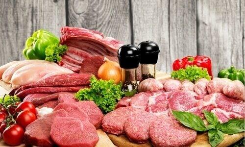 Όμορφο δέρμα - Διάφορα είδη κρέατος