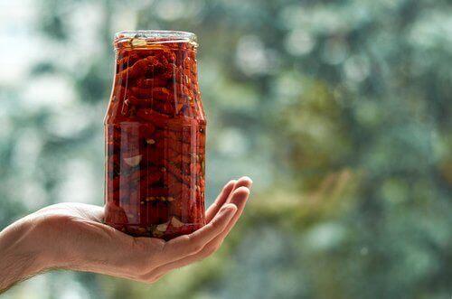 γυαλινο με αποξηραμενες ντοματες με αφυγραντήρα τροφίμων