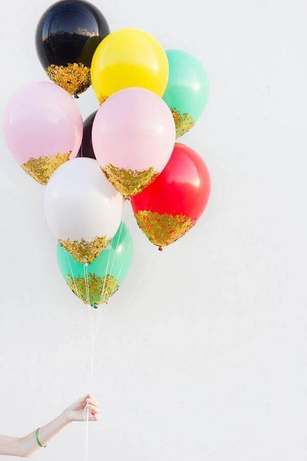 μπαλόνια με γκλίτερ