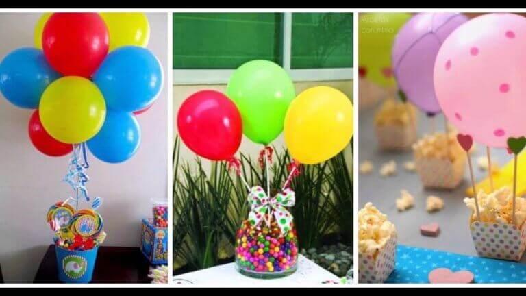 μπαλόνια επάνω σε γλυκά