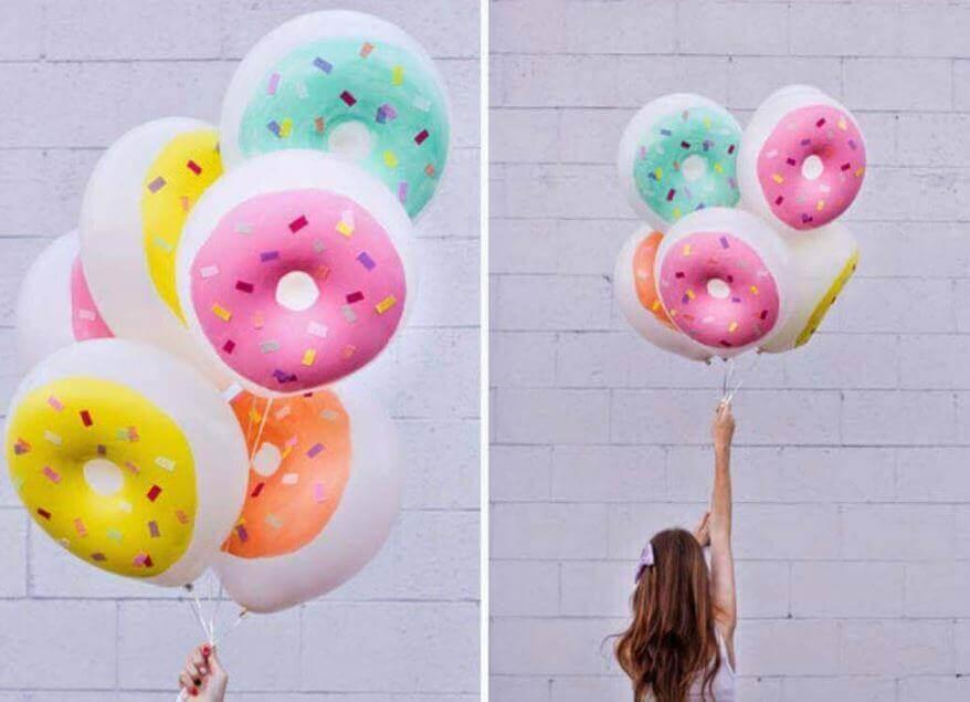 μπαλόνια σε στυλ ντόνατ