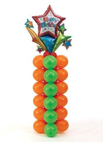 μπαλόνια σε κατακόρυφες στήλες