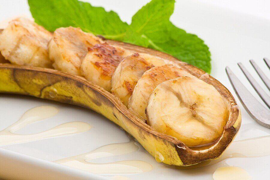 μπανάνες Αντιλλών ψητή μπανάνα με φλούδα