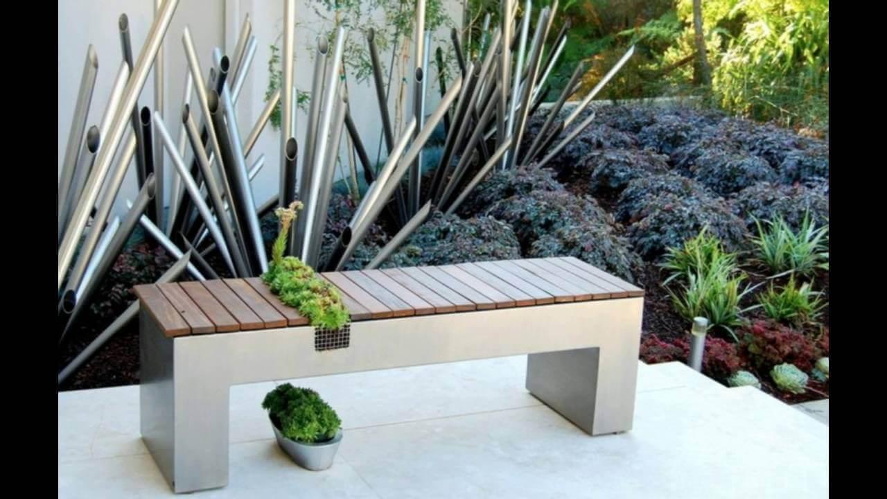Μικροί αστικοί κήποι - Πάγκος και φυτά