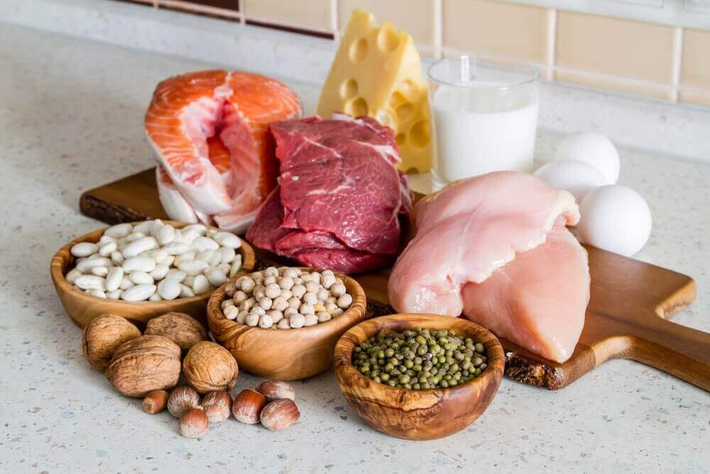 κρέας και όσπρια για πρωτεΐνη, τόνωση των μυών
