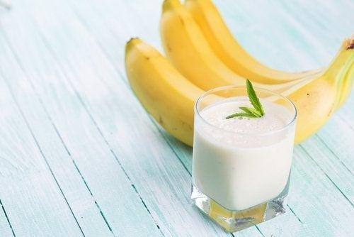 Γάλα και μπανάνες