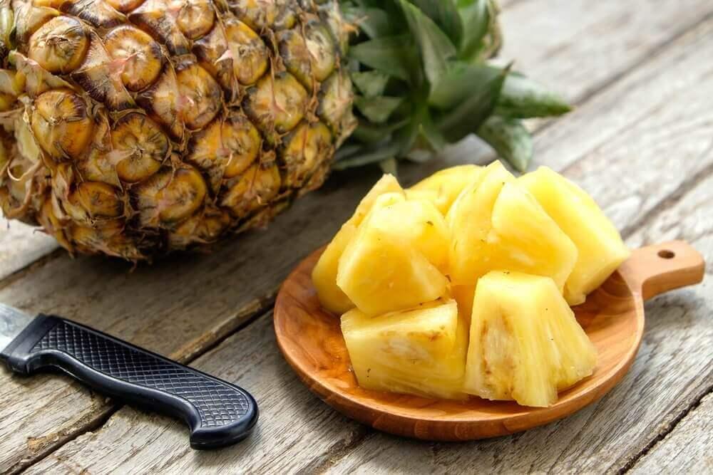 Συνταγές με ανανά - Ανανάς σε κύβους