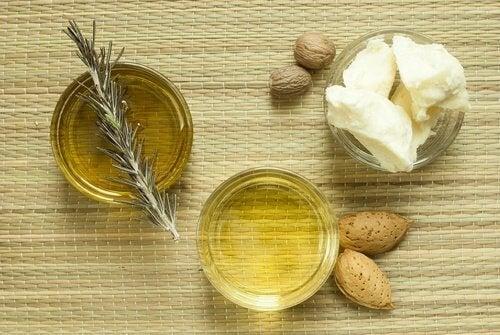 Μπολ με αμυγδαλέλαιο για ενυδάτωση του δέρματος